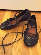 Jb Martin Un Matin D'ete Vero Cuoio Durable Greek Sandals Black Sz 38 Euro/ 7 US