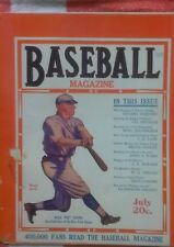 Baseball Magazine July 1920. Rogers Hornsby, Walter Johnson, Eddie Cicotte.