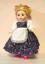 "Madame Alexander 8"" DOLL COLLECTOR DRESS, with apron fits some Ginnys"