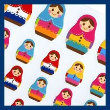 Mind wave Made in Japan Very Cute colorful Matryoshka russian Doll paper sticker