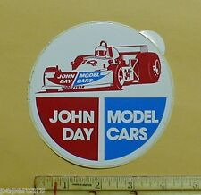 John Day Model Cars vintage 1970's vintage Racing Decal Sticker Hans-Joachim