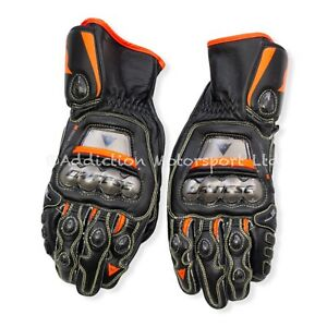 Dainese Full Metal 6 Leather Racing Gloves Black / Red, Size L