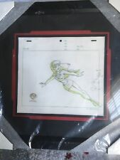 Batman Animated production drawing featuring Supergirl framed & matted