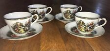 Vintage Porcelain Set Of 8 Occupied Japan Demitasse Tea Coffee Cups Saucers