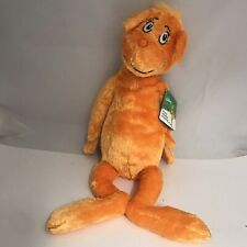 """Dr Seuss The Foot Book Orange Character Plush 20"""" Stuffed Toy Kohls Cares - New"""