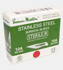 100 x Genuine Swann Morton Green Box Stainless Steel Sterile Scalpel Blades UK