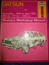 Datsun Cherry Haynes Manual 1979 to 1982