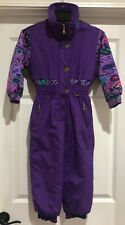 Jupa Sports Ski Snowsuit One Piece Outfit Plum Purple Youth Girls Size 5
