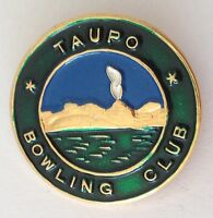 Taupo Bowling Club Badge Pin New Zealand Rare Vintage (M21)