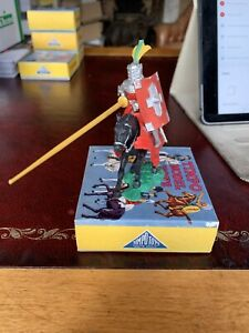 Timpo Early Mounted Jousting Knight Boxed In Excellent Condition