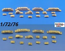 1/72 Sand Bags for Trenches Set Military Scale Model Stowage Diorama Kit 2