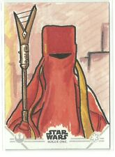 Topps Star Wars Rogue One Series 2 Jedha Pilgrim Sketch Card by Mike Barnard
