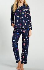 Kate Spade New York soft Flannel Pajamas Hot Air Balloons Navy blue New XL