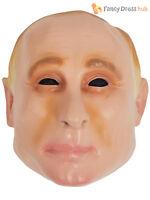 Adults Vladimir Putin Kim Jon Un Vinyl Mask Mens Halloween Stag Fancy Dress