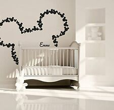 Wall Decal Vinyl Sticker Disney Custom Baby Name Head Mice Ears Mickey r240