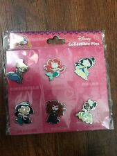 Disney Pins Princesses New Collectible Princess 6 Pin Set Authentic