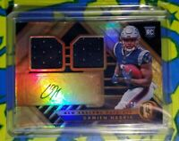 2019 Gold Standard Jersey Double Patch /75 Damien Harris Rookie Auto RPA RC Pats