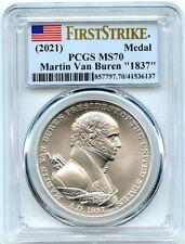 1837 Martin Van Buren Presidential Silver Medal (2021), PCGS MS-70 First Strike!