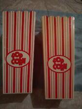 "VINTAGE, lot 2 Retro Movie Theater Plastic Popcorn Bucket/ Tubs  3 cups.7 1/2"""