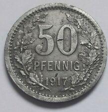 50 Pfennig Stadt Iserlohn 1917 Kriegsgeld Germany Allemagne Kriegs Geld