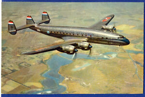 1950s KLM Airlines Issued Lockheed Super Constellation Postcard