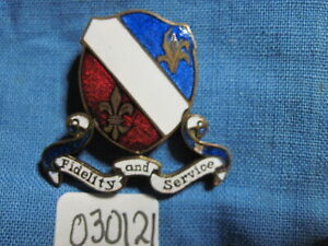 Army crest DI dui PB pinback ww2  350th INFANTRY REGIMENT  Theater Made Italy