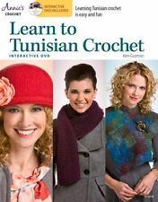 Learn to Tunisian Crochet with Interactive Class DVD, Guzman, Kim, New Books
