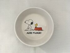 Gibson Dishwasher & Microwavable Safe Ceramic Snoopy Character Dog Dish