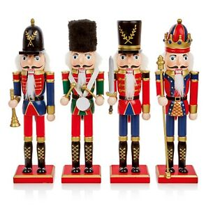 Choice of 4 Christmas Wooden Nutcracker Freestanding Figurine 30cm Tall