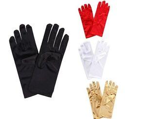 Ladies Short Wrist Gloves Smooth Satin Party Dress Prom Evening Wedding Gift