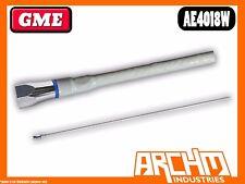 GME AE4018W UHF 64 CM WHITE FIBREGLASS ANT WHIP 477 MHZ ANTENNA 6.6 DBI
