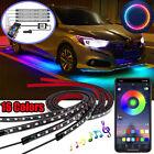 4xrgb Led Car Interior Accessories Floor Decorative Atmosphere Strip Lamp Lights