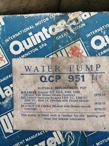 Hillman Avenger GT  GLS  Water Pump Quinton Hazell QCP 951 1970-73