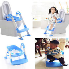 CHILDREN KIDS POTTY TRAINER LADDER 3 IN 1 SEAT BLUE PORTABLE FOLDABLE KIDS CHAIR