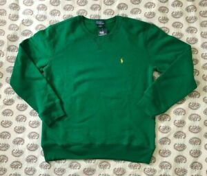 NWT~ POLO RALPH LAUREN BOYS Cotton Blend Fleece Sweatshirt Sz L (14 - 16)~ Green