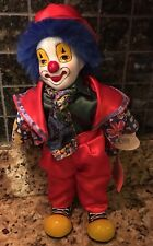 Collectible Porcelain 13� Tall Clown Figurine by Gino