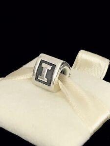 Pandora Letter I Block Alphabet Initial Charm Silver S925 ALE + Box 790323I