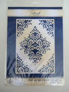 Tattered Lace Treasures From The Attic A4 Stencil 503642 brand new