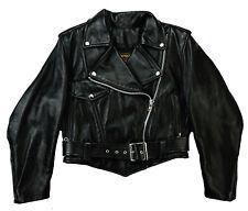VANSON Elvis Damen Biker Motorrad Harley Leather Lederjacke Schwarz 36-38 S-M