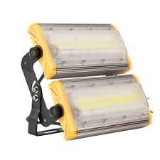 LED Floodlight 100W COB Warm White Outdoor Project Flood Garden Light Lamp IP65