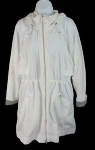 Women's Athleta White Lightweight Drawstring Jacket Size L