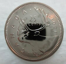 1991 CANADA 25 CENTS PROOF-LIKE COIN VERY LOW MINTAGE QUARTER ☆ KEY DATE ☆