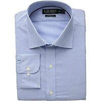 "$75 Ralph Lauren Non-Iron Classic Fit Stretch Dress Shirt Size 15.5X34/35"""