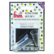 FMM Piping Icing Decoration Decorating Sugarcraft Mixed Stars Nozzle Tip Set
