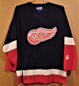DETROIT RED WINGS BLACK AIRKNIT NHL SIZE XL JERSEY