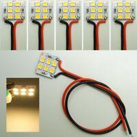 5x LED Warmweiß 6 LED´s auf 12,5x15mm verkabelt 12V z.B. Hausbeleuchtung C5004