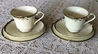 2-Minton-NEWBURY-Royal Doulton-BLACK BAND  Cup ,Saucer&Dessert Plate-England