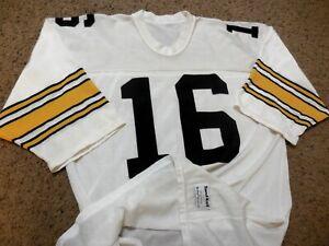 1980s Pittsburgh Steelers Vintage Durene Sand Knit Jersey - QB Mark Malone