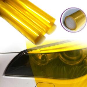 "12x48"" Glossy Golden Yellow Smoke Headlight Tint Fog Light SideMarker Vinyl Film"