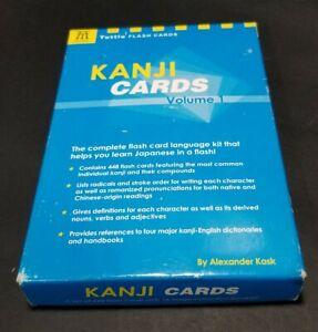 Kanji Cards, Vol. 1 (Tuttle Flash Cards) Alexander Kask Japanese Self Teach